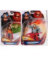 Mattel DC Superman Man Of Steel Auto Assault & Krypton Combat Figures - $7.95