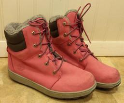"TIMBERLAND 6"" Pink Leather Premium Grade School Boots 3191R Juniors / Wo... - $42.08"