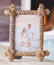 "10.4"" Hemp Rope Nautical Design Photo Picture Frame Holds 5"" x 7"""