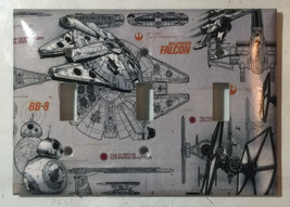 Star Wars Millennium Falcon BB8 BB-8 Switch Outlet wall Cover Plate Home Decor image 10