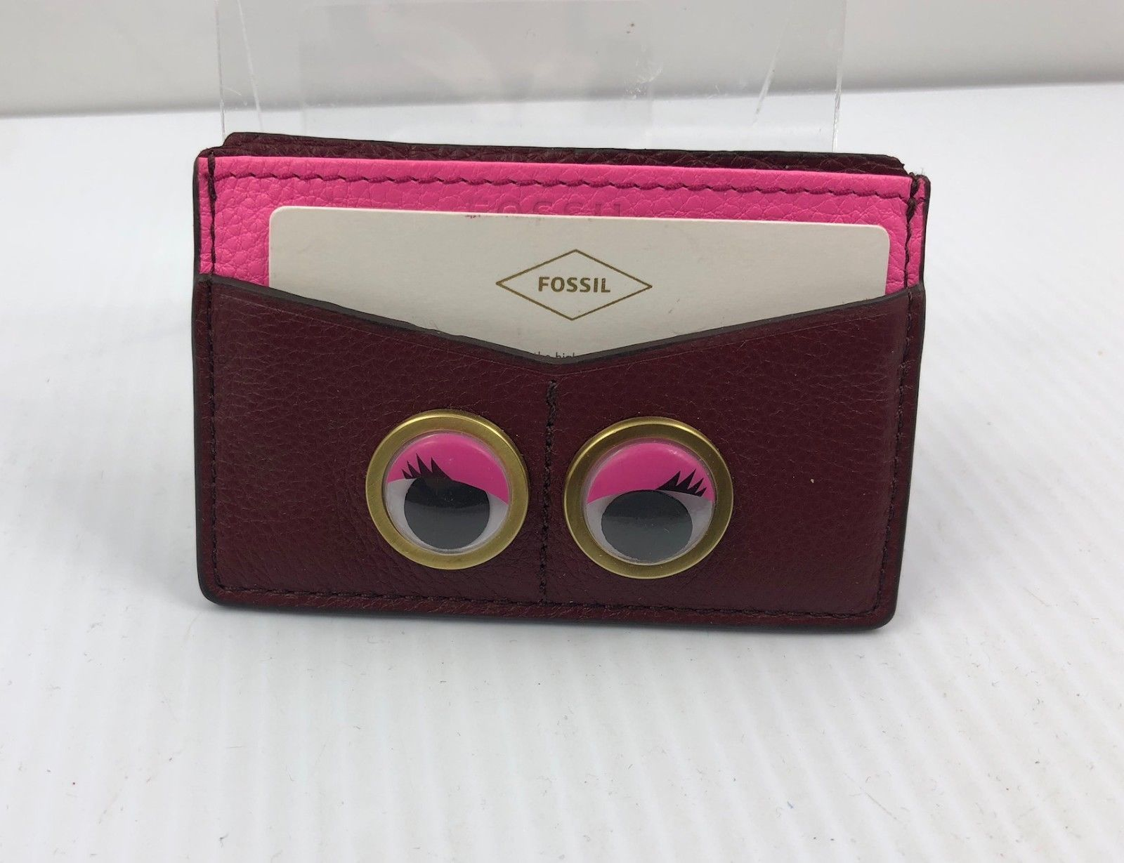 Fossil SL7277609 Card Case Eyes Wine pink and 50 similar items
