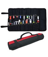 22 Pockets Hardware Tool Roll Pliers Screwdriver Spanner Carry Case Pouc... - £11.62 GBP