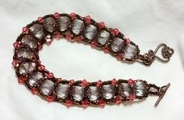Lavender Flat Spiral Bracelet - $20.00