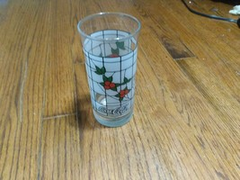 Vintage Coca-Cola Floral Stained Glass Pattern Drinking Glass Limited Ed... - $9.49
