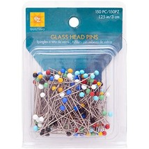 Wrights 881426 Glass Head Multicolor Pins, 150-Pack Total of 300-piece 2... - $10.52