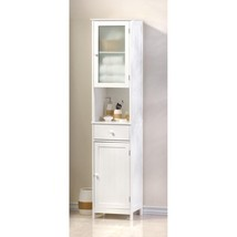 White Wooden Lakeside Tall Storage Cabinet - $204.95