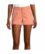 """a.n.a. Women's Mid Rise Twill Chino Shorts Size 16 Spanish Tile NEW 3.5"""" - $21.77"""