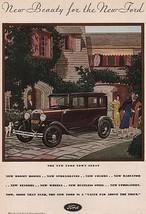 Orig Vintage Magazine AD/ 1930 Ford Town Sedan - $13.00