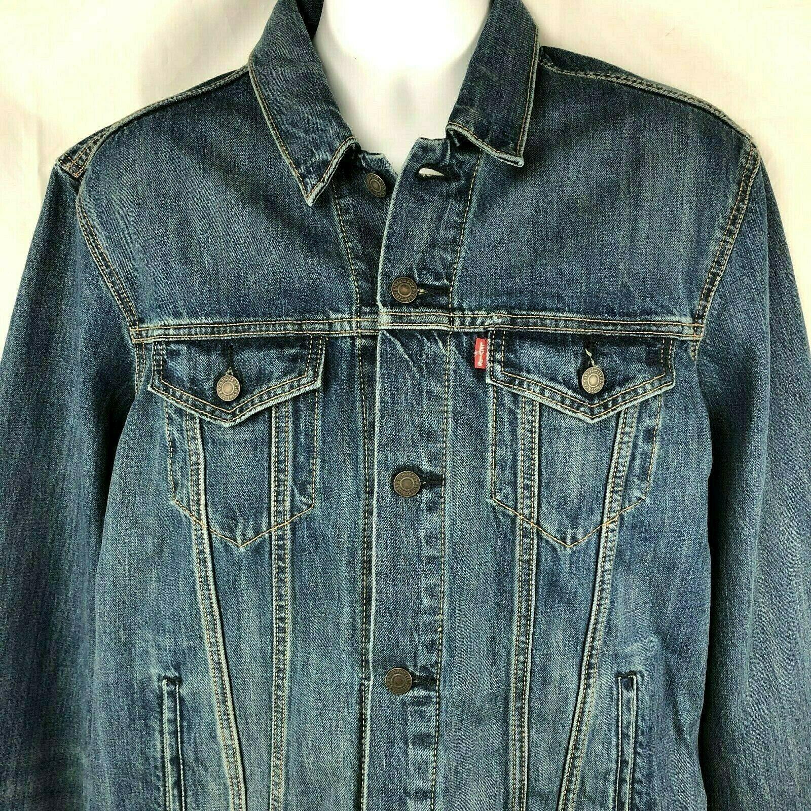Gap Men's Premium Standard Lined Jean Jacket Size Large
