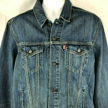 Levis Premium Modern Big E Denim L Slim Trucker Jean Jacket Large Mens NWT - $96.56