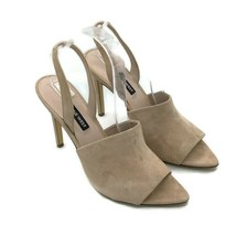 Nine West Guthrie Size 8 Slingback Stiletto Sandals Beige Women's Shoes - $29.50