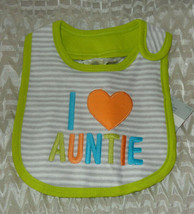 "NEW Carter/'s Infant Bib /""Irish I Had a Mustache/"" One Size Green"