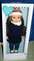 """Kaisley & Friends 18"""" Doll Brunette Hair in Winter Coat Outfit New - $48.02"""