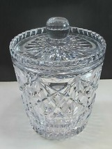 Signed Royal crystal  jar with lid for - $64.17