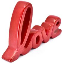 Vaneal Group Hand Carved Soapstone Red Love Free-Standing Cursive Word Sign image 5