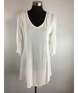 Altar'd State Tunic Dress S Small White Floral Lace 3/4 Sleeve Hi Lo Hem... - $34.64