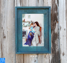 """The Post & Beam Hand Rubbed Teal 3.5""""- Vintage Rustic Decor Reclaimed Wood Frame - $24.00"""