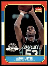1986-87 Fleer Basketball Premier Alton Lister Seattle Supersonics #64 - $0.50