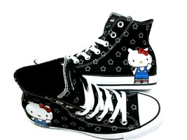 Converse X Hello Kitty Womens CTAS HI Canvas Shoes Black White Sz 8 New ... - $44.54