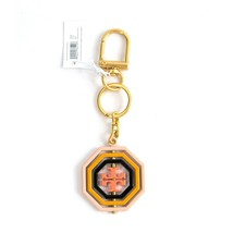 Tory Burch Octagon Acrylic Enamel Spinning Large Bag Charm Key Chain NWT image 1