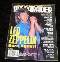 Led Zeppelin Van Halen Motley Crue WASP Metallica Hit Parader August 1986 - $14.99