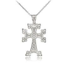 Sterling Silver Orthodox Cross Pendant Necklace - €18,02 EUR+