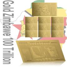 WR Zimbabwe 100 Trillion Dollar Gold Foil Banknote 10PCS Gift Set /w Z$ ... - $18.88