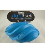 PetProjekt Skrubal Dog Chew Football Toy Blue Med Large Natural Rubber N... - $5.53