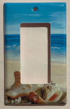 Ocean beach Seashell Light Switch Power Outlet wall Cover Plate Home Decor image 3