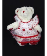 Build a Bear BABW Stuffed Red And White Plush Hugs Valentines Day Teddy ... - $15.85