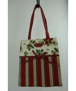 """Longaberger Holiday Gift Bag Red Green 8"""" x 9"""" x 4"""" - $12.86"""