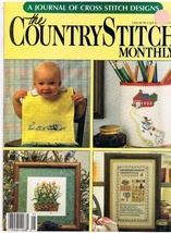 Country Stitch Monthly Journal of Cross Stitch Designs Back Issue May 1989 - $6.00