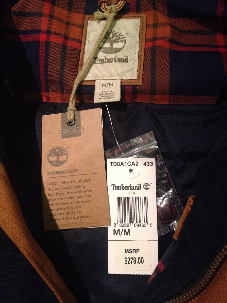 Timberland Men's Mt Davis Waxed Down Jacket, Dark Sapphire. Size: M