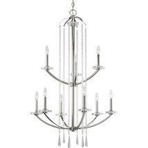 Progress Lighting P4538-104 9-light, 2 tier chandelier featuring drops o... - $22.305,39 MXN