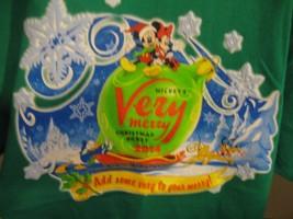 NWT Walt Disney Parks Very Merry Christmas Shirt Kids M 10/12 Green 2014... - $14.01