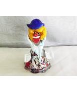 "Murano Venetian Art Collection 6"" Glass Clown Figurine - $22.99"