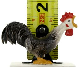 Hagen Renaker Miniature Chicken Leghorn Black Rooster & Brown Hen Set image 3