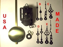 Quartz Pendulum Clock Movement Kit with 1 Set of Hands Out of 4 Types to... - $26.50