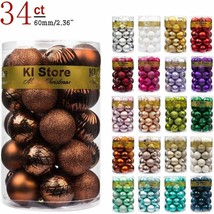 KI Store 34ct Christmas Ball Ornaments Brown Bronze 2.36-Inch Shatterproof - $29.99
