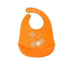 Silicone Baby Bibs Easily Wipe Clean - Comfortable Soft Waterproof Bib  - $12.98