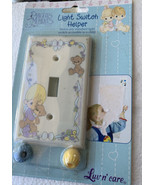 Precious Moments Light Switch Cover Plate Helper Little Boy with Bear Vi... - $12.32