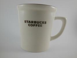 "Starbucks Mug Brown & White Coffee Cup 2009 New Bone China 4 3/8"" tall l... - $14.10"