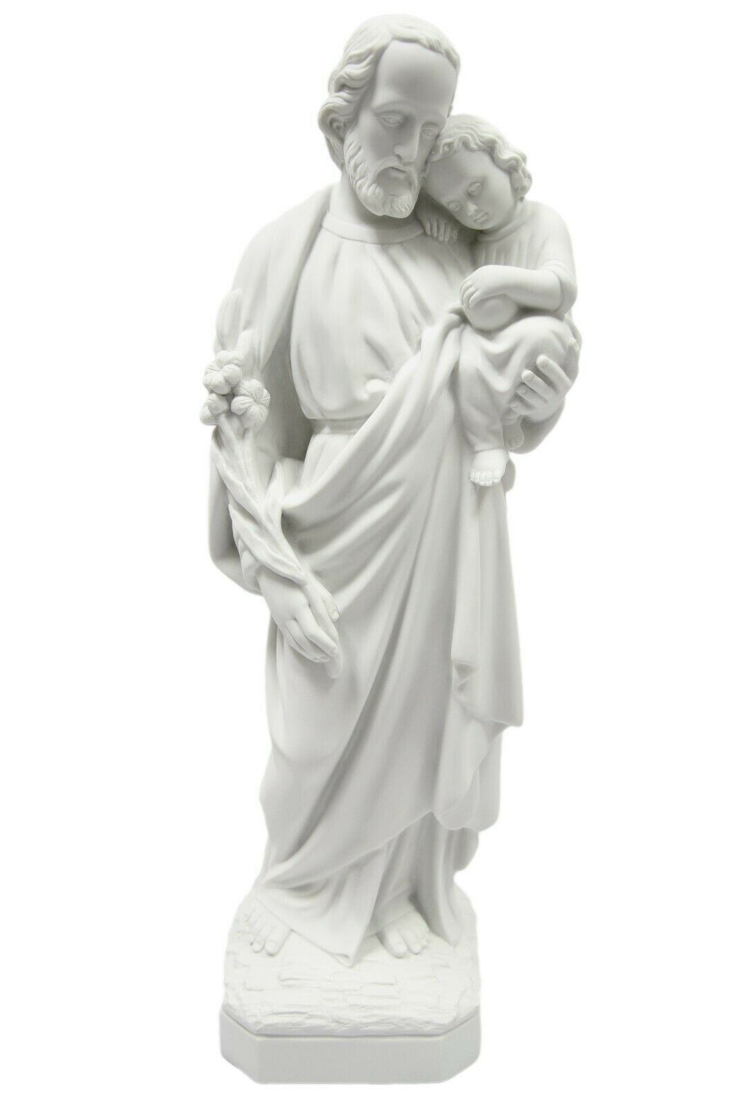 "Primary image for 47"" Saint St Joseph with Jesus Child Catholic Statue Sculpture Vittoria Italy"