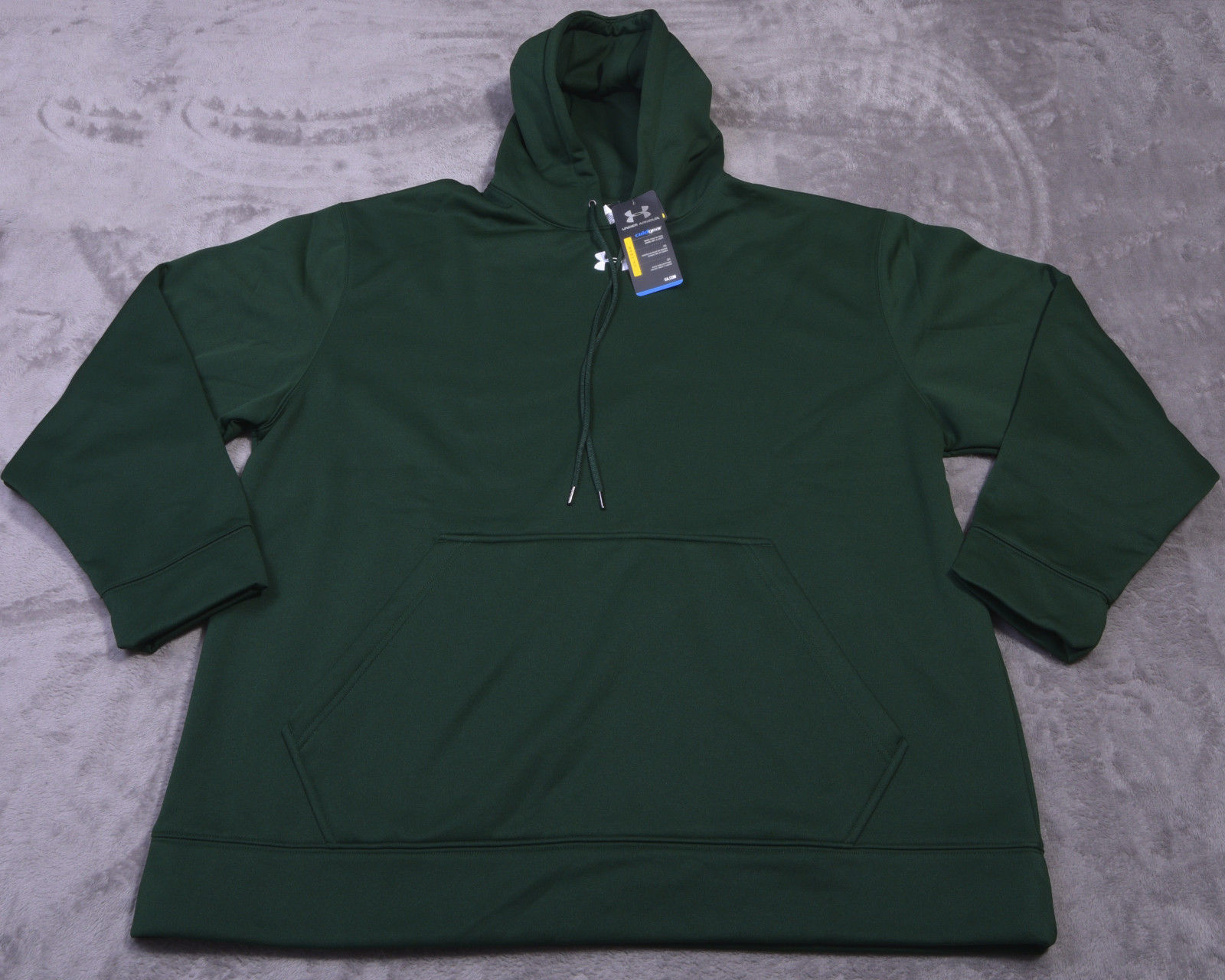 UNDER ARMOUR Hooded MENS SWEATSHIRT Long Sleeve Green XL Hoodie NWT NEW - $53.66
