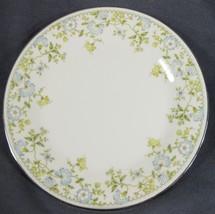 "Noritake FLOURISH 2608 Dinner Plate 10 5/8"" Light Blue & Yellow Floral Rim - $19.95"