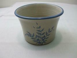 """Red Wing Stoneware Co. Minn, Bowl Crock Bread Baker Grey Blue Fern 6.5"""" ... - $24.70"""