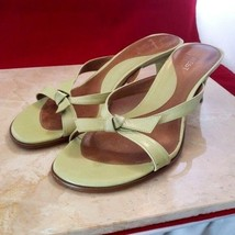 Nine West Light Green Backless Bow Heels Size 5.5 - $19.99