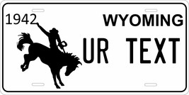 Wyoming 1942 License Plate Personalized Custom Auto Bike Motorcycle Moped Tag - $10.99+