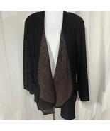 Fergusons Copper Sparkle  Cardigan  Sweater Draped Front Vintage 1980s - $38.99