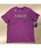 NWT Nike DA0620-503 Men's Dri-FIT Top Graphic Tee Shirt Viotech Purple S... - $19.95
